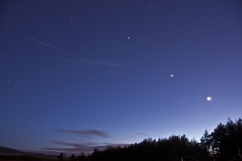 Moon Venus Jupiter ISS Feb 24 2012