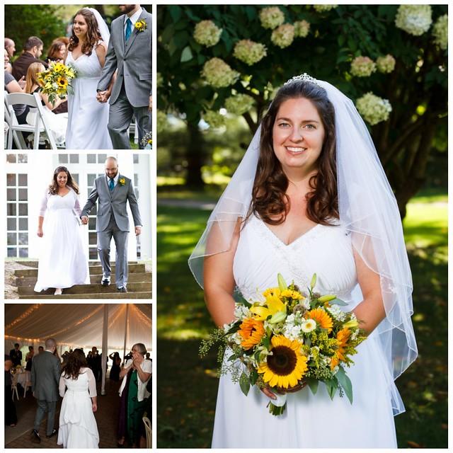 bride's attire collage