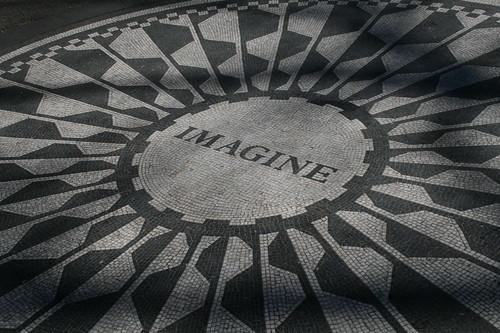 Imagine memorial in honor of John Lennon