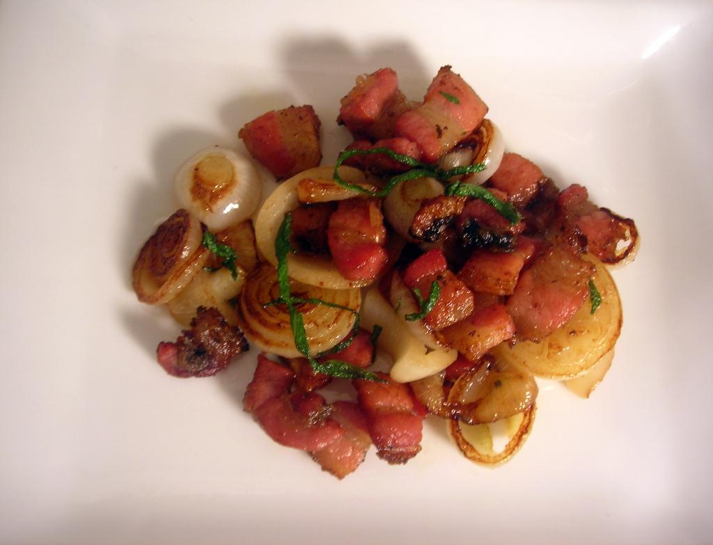 Pancetta, cippolini onions, sage