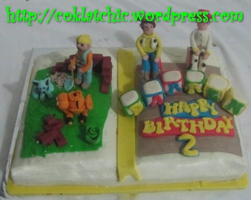 Cake bob the builder dan toy story (cake buku)