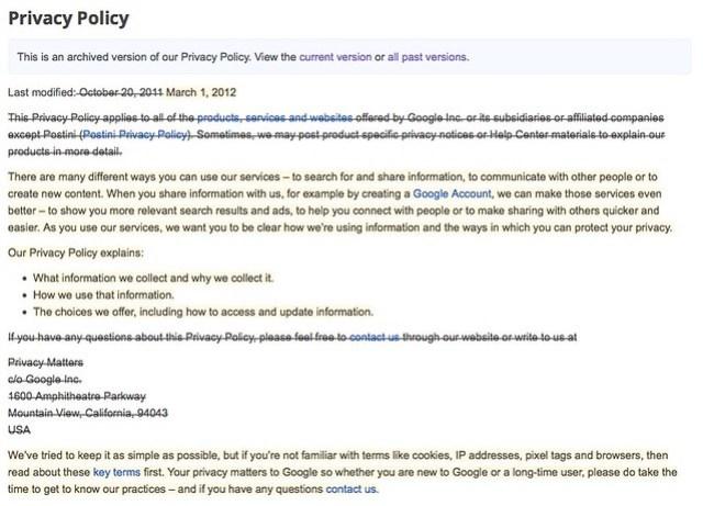 Privacy Policy – Policies & Principles