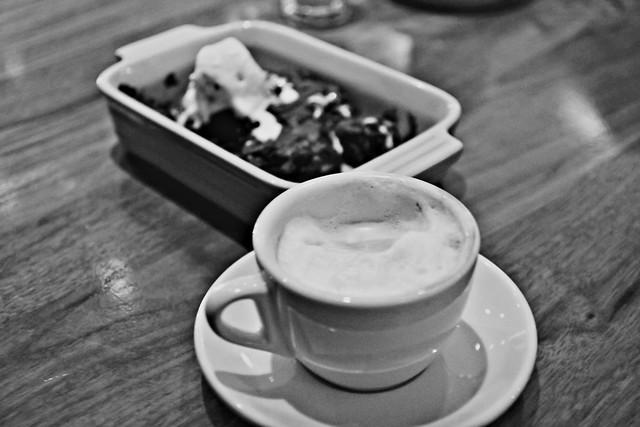 brownie and coffee