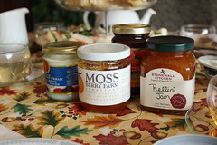 Selection of jams and devon cream