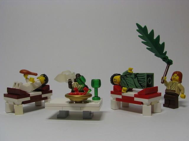 Roman Triclinium scene