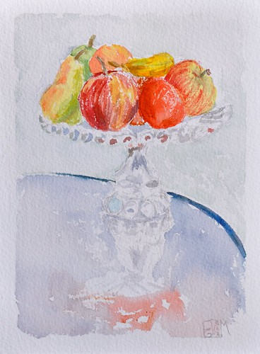 Reflection overload! Fruit en Plein Air by photographerpainterprintmaker
