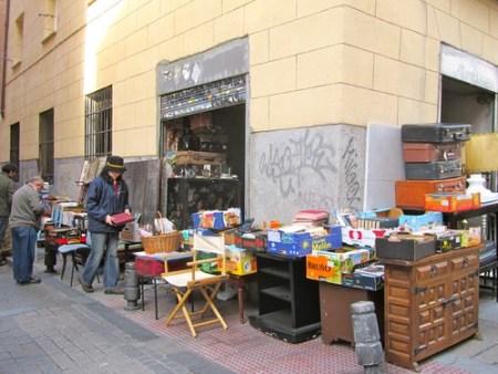 El Rastro, il mercato delle pulci di Madrid