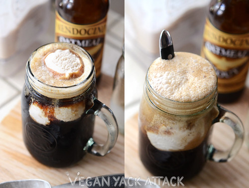 This Irish Whiskey Ice Cream Beer Float is essentially homemade vegan Bailey's ice cream, paired with your favorite stout! Great for St. Paddy's Day!