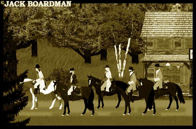 Cooper's posse rode out of Williams' Station ©2012 Jack Boardman