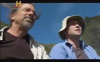 Jeff Salz y Jim Turner, en la cima del monumento.