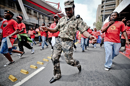 Cosatu: military dancer by S:P:S