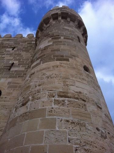 A Tower of the Citadel Qaitbey of Alexandria, Egypt