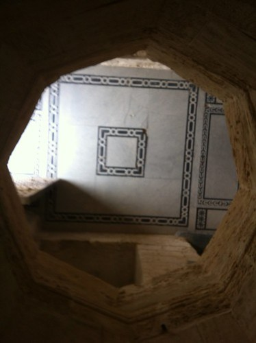 Murder Holes at the Qaitbey Citadel at Alexandria, Egypt.