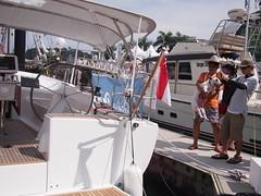 Pet English Bull Terrier, Boat Asia 2012, Marina @ Keppel Bay