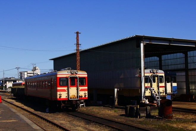 那珂湊に帰ったキハ2005