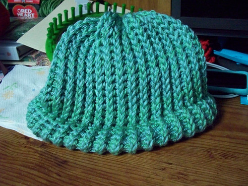 Blue green hat