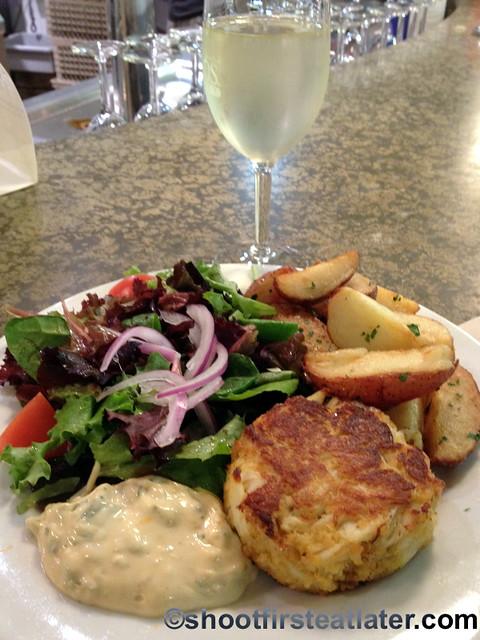 Seafood meals at Whole Foods Market- jumbo lump crab cake $14