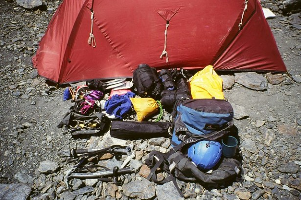 The contents of my rucksack for an Alpine ascent