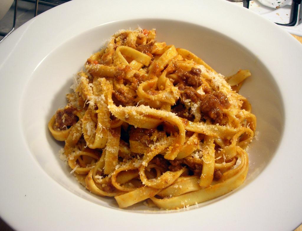 Tagliatelle with Marcella Hazan's Bolognese sauce