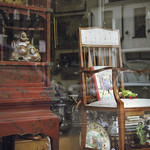Antique shop window - Lillie Road