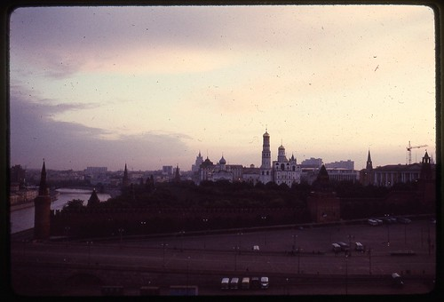 Kremlin and Moscow River at Sunset, Moscow, 1969