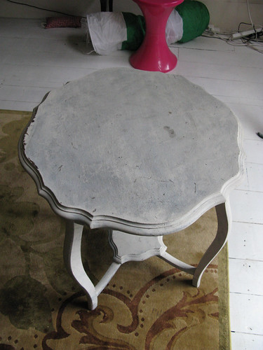 Bashed up old table