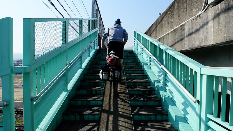 Cycling Up Stairs