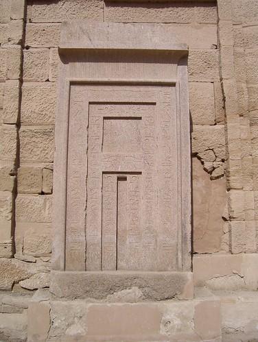 False Door at Medinat Habu