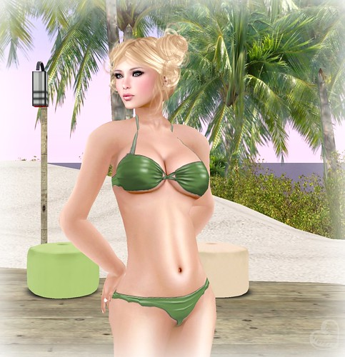 Tempting Sinsations @ The Wash Cart Sale - Green Bikini