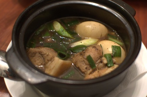 Caramelized pork & egg in clay pot