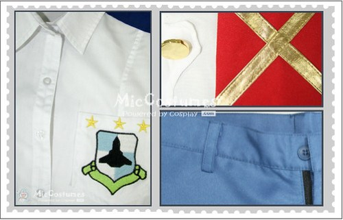 Macross Frontier Alto Saotome Cosplay Costume_2