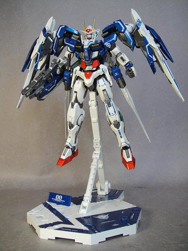 Custom Painted MG 00 Raiser Metal Build Color Scheme with Stand CF GundamPH (4)