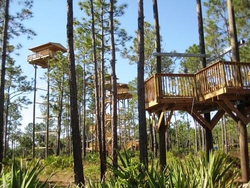 Zipline Platforms, Florida EcoSafaris, St. Cloud, Fla., April 2012