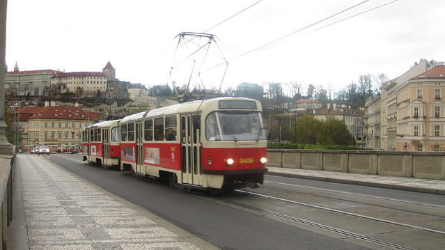 Tramway on the Mánesův most
