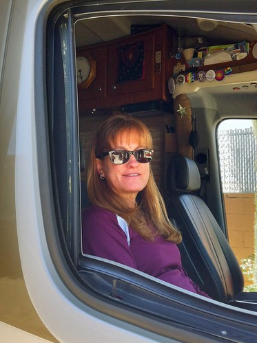 2-22-12 Roberta leaving motel  in RV
