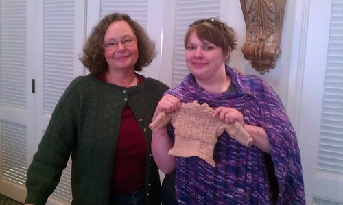 Completed gansey, with Beth B-R by Miss Knotty