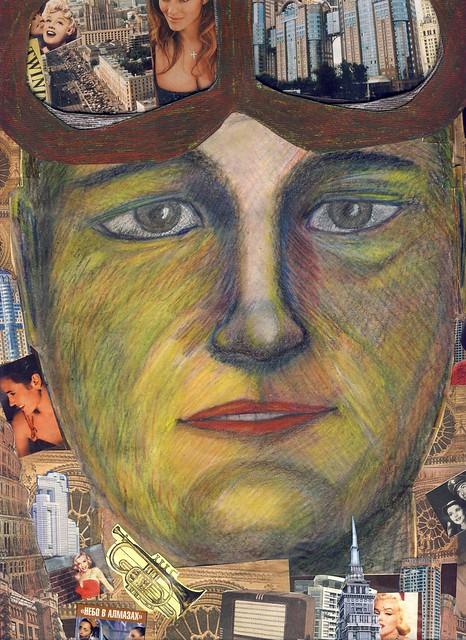 Vladimir Ozerny. Half Self-Portrait