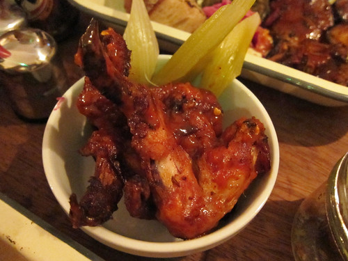 Smoked Hot Wings with Pickled Celery