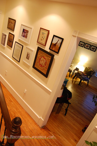Hallway with picture frames