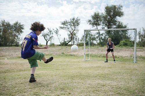 football at Camping Ca' Savio