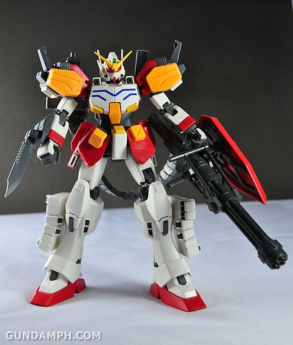 MG 1-100 Gundam HeavyArms EW Unboxing OOTB Review (137)