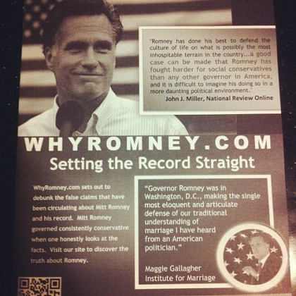 Maybe Romney can't hate gays hard enough for some folks at CPAC.