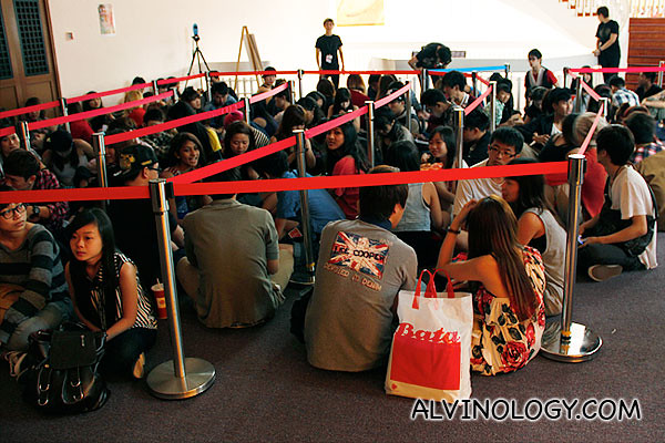 Fans who queued early to  get  good seats