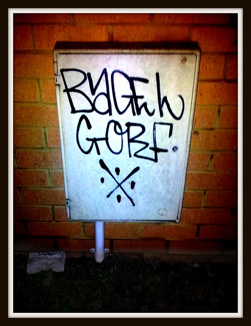 Bagel Gorf grafitti in Canton