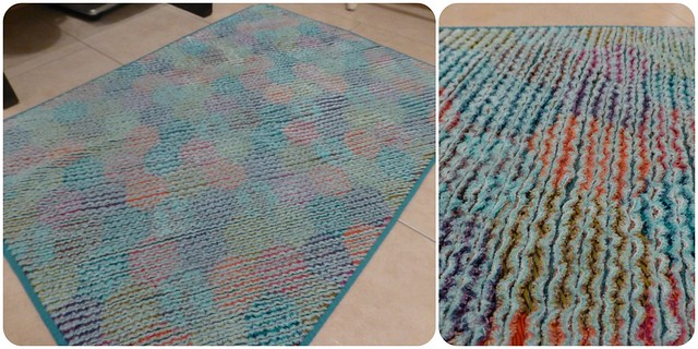 Chenille quilted bath mat