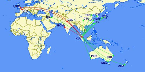 Air Asia X Routes