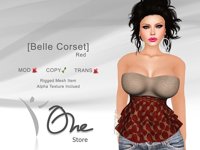 [Belle Corset] Red