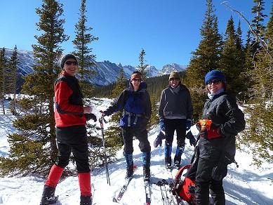 Eileen Leading a Ski Tour