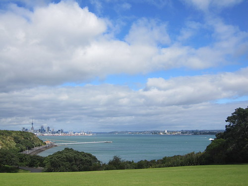 Overlooking Auckland CBD from Bastion Point Lookout