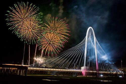 Margeret Hunt Hill Bridge Fireworks
